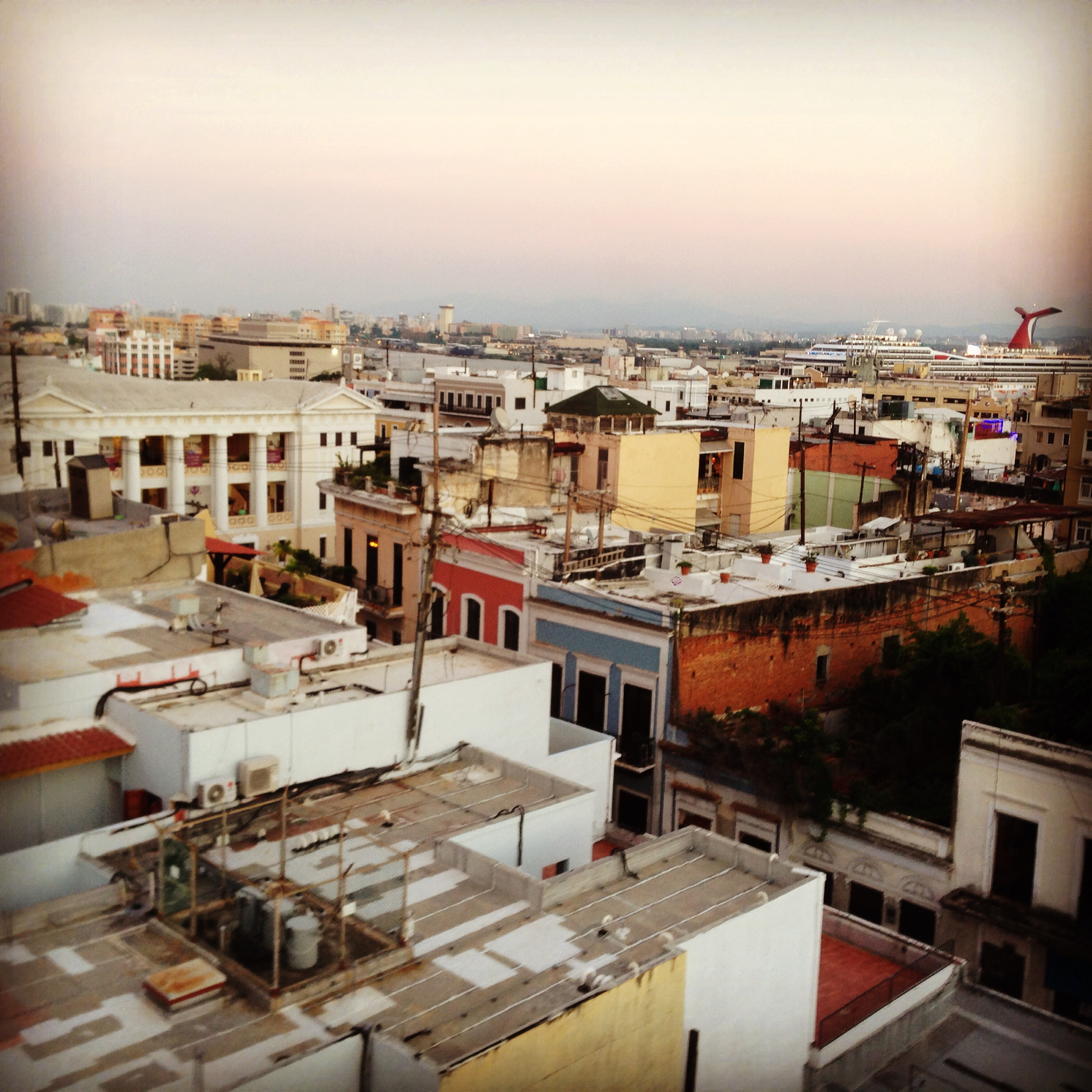 The roofs of San Juan from La Terraza
